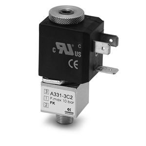Series A Direct Operated Solenoid Valves - Male Thread Bottom Port
