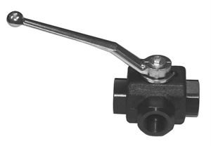 High Pressure Hydraulic 3-Way Diverter Ball Valves Forged Steel