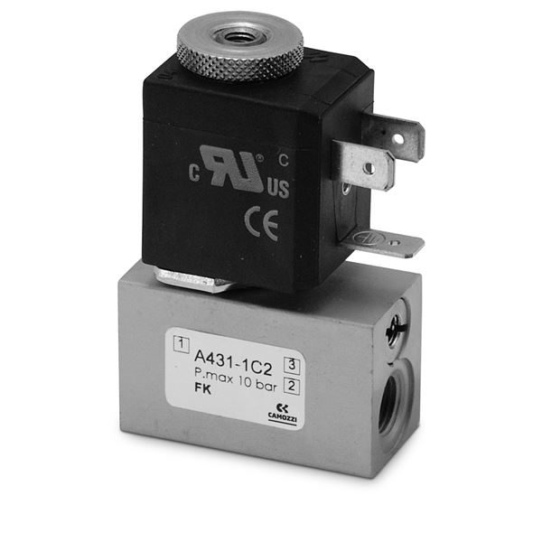 Series A Direct Operated Solenoid Valves - Threaded Body - Rapid Exhaust