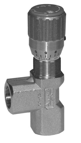 Hydraulic uni-directional 90 degree mount flow control