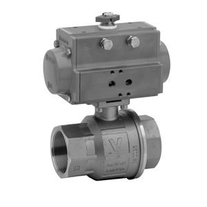 Pneumatically Actuated 2-Way Stainless Steel Ball Valves
