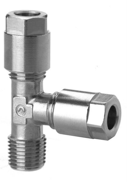1010 Fixed Run Tee Taper Compression Fittings