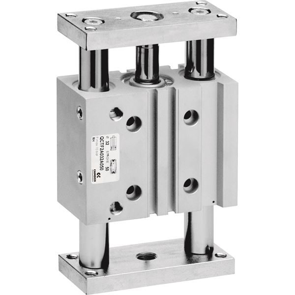 Series QCTF-QCBF  cylinders with intgegrated guide