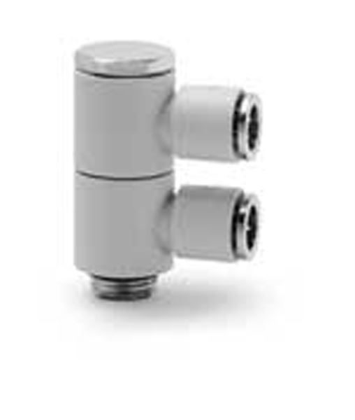 7612 02 Two Single Outlets Plastic Push In Fitting