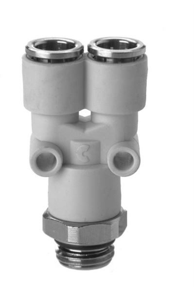 7562 Swivel Y Connector Plastic Push In Fitting
