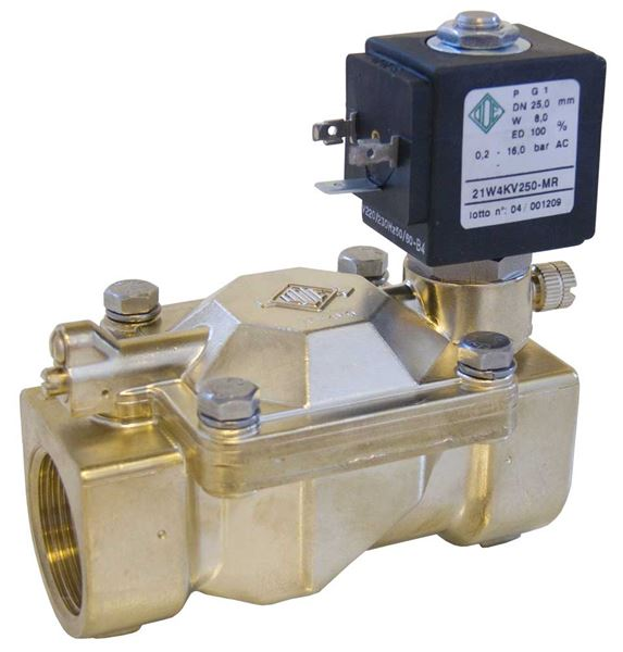 Servo Assisted Industrial Solenoid Valves 2/2 NC Or NO