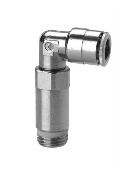 6525 Extended Swivel Elbow Push In Fitting