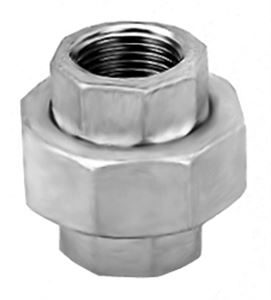 SS130 Hexagon Union - 2 Piece Stainless Steel Pipe Fitting