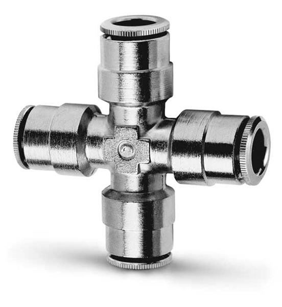 6600 Equal Tube Cross Connector Push In Fitting