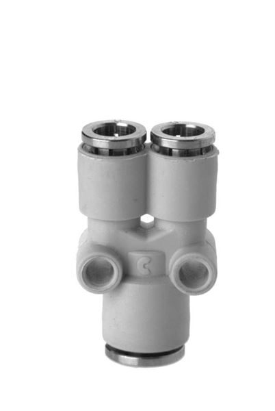 7560 Tube Y Connector Plastic Push In Fitting