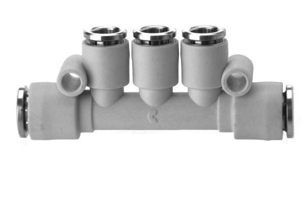 7545 Multi Tee Plastic Push In Fitting