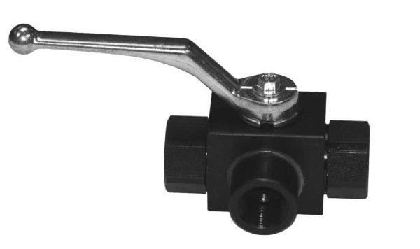 High Pressure Hydraulic 3-Way Diverter Ball Valves Barstock Steel
