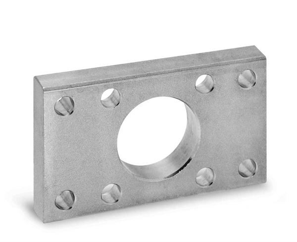 Front and Rear Flange Mod. D-E for Series 90 Cylinders For Industrial Automation. Pneumatic Cylinder Mounting Accessory.