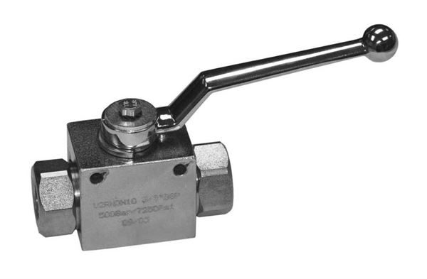 High Pressure Hydraulic 2-Way Ball Valves (with Fixing Holes)